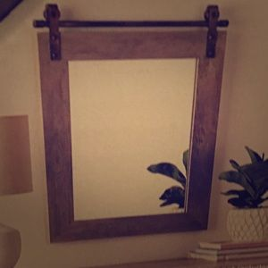 20x28.5 inch wooden mirror!  NEW IN PACKAGING!